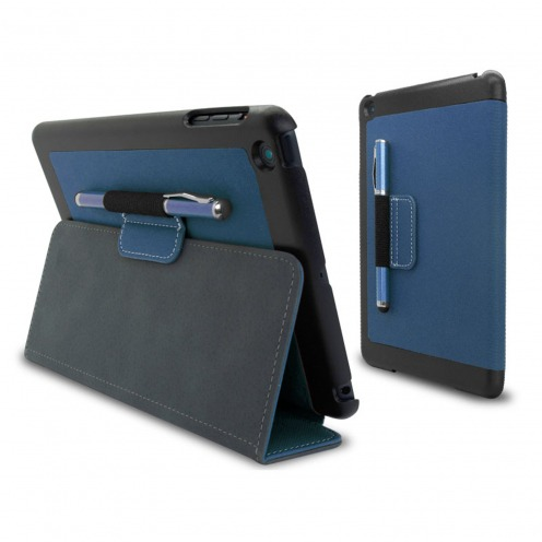 Denim-fabric Club Case for iPad Mini Blue