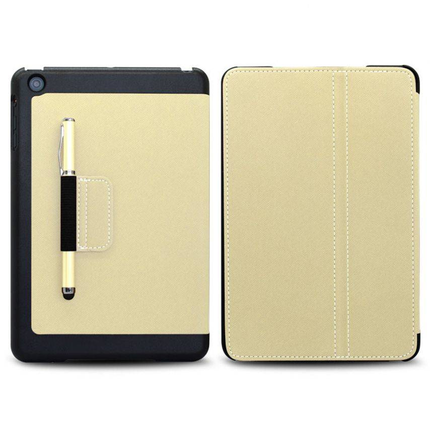 Denim-fabric Club Case for iPad Mini White