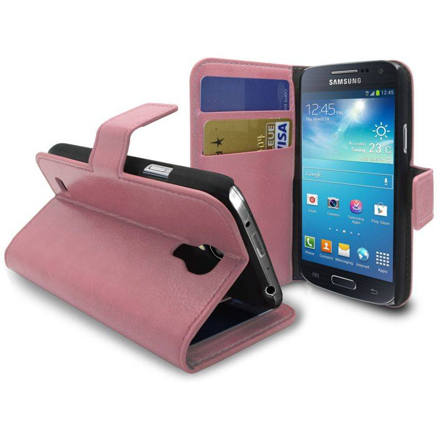 Smart Cover Samsung Galaxy S4 mini Pink marbled Leatherette