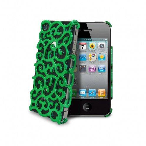 Rococo Designer Luxury case for iPhone 4 & 4S Green