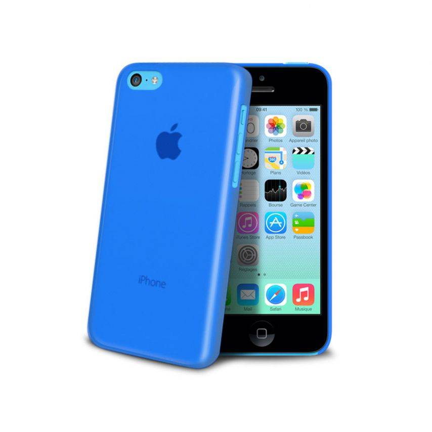 Ultra thin Case 0.3 mm Frost for iPhone 5C blue