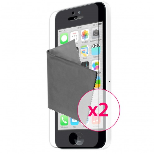 Pack of 2 Anti-Fingerprints Screen protector for iPhone 5C Clubcase ®