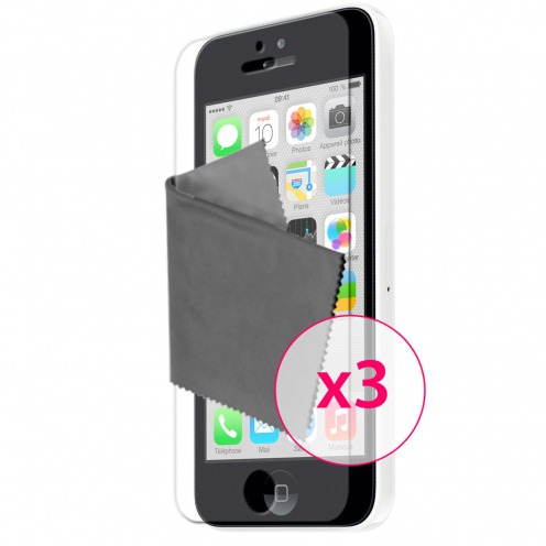 Pack of 3 Anti-Fingerprints Screen protector for iPhone 5C Clubcase ®
