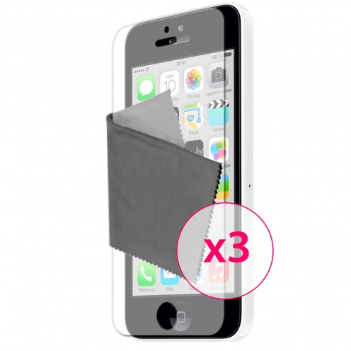 Clubcase ® Anti-Glare HQ screen protector for iPhone 5C 3-Pack