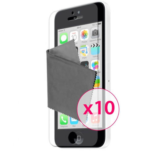Clubcase ® Ultra Clear HQ screen protector for iPhone 5C 10-Pack