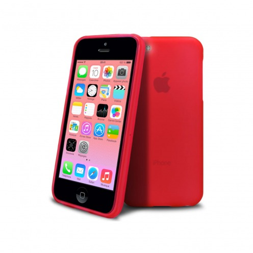 Frozen Ice Extra Slim soft red case for IPhone 5C