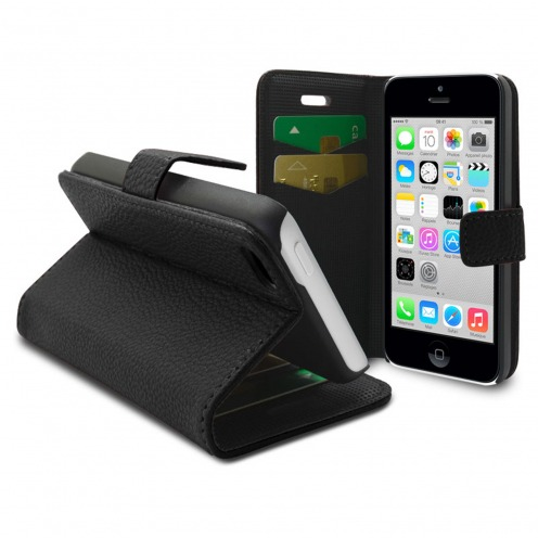 Smart Cover iPhone 5C Black Leatherette Full Grain