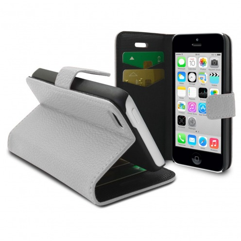 Smart Cover iPhone 5C White Leatherette Full Grain