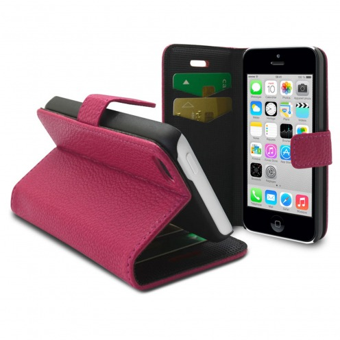 Smart Cover iPhone 5C Pink Leatherette Full Grain