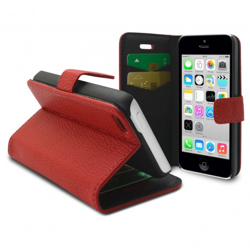 Smart Cover iPhone 5C Red Leatherette Full Grain