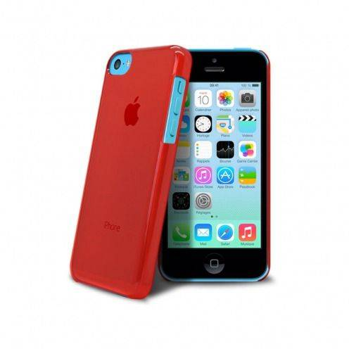 """Crystal"" case for iPhone 5C Red"