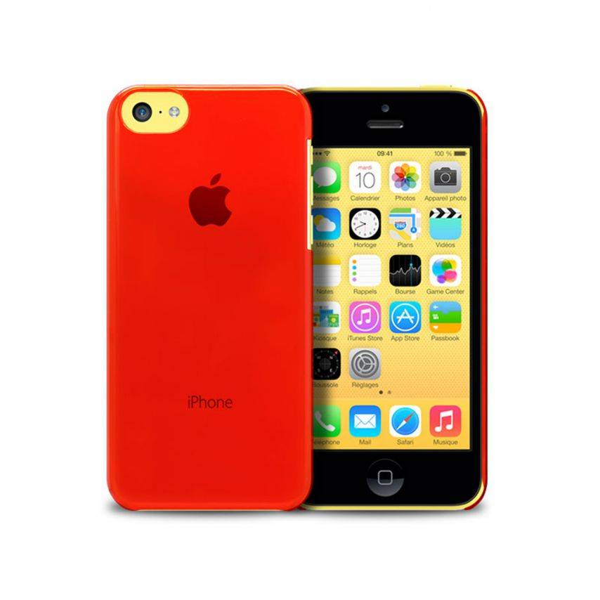 """""""Crystal"""" case for iPhone 5C Red"""