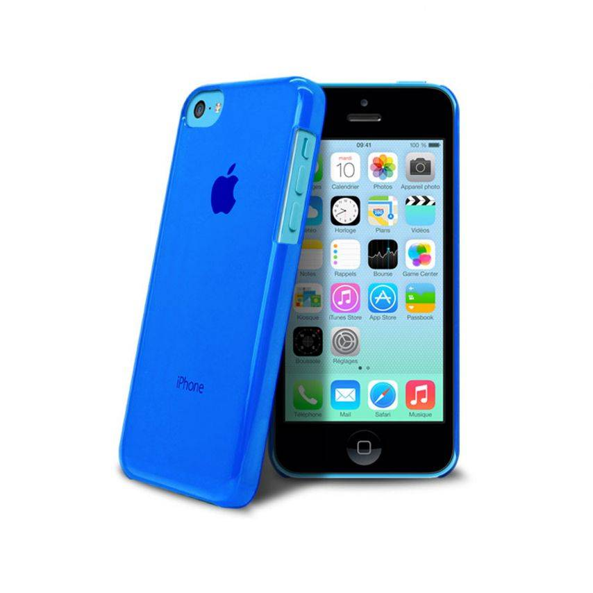 """""""Crystal"""" case for iPhone 5C Blue"""