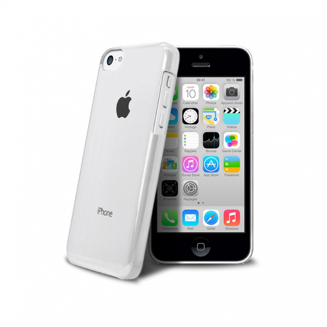 """Crystal"" case for iPhone 5C White 
