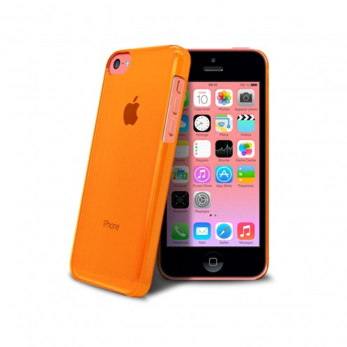 """Crystal"" case for iPhone 5C Orange"