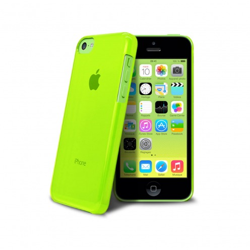 """Crystal"" case for iPhone 5C Green"