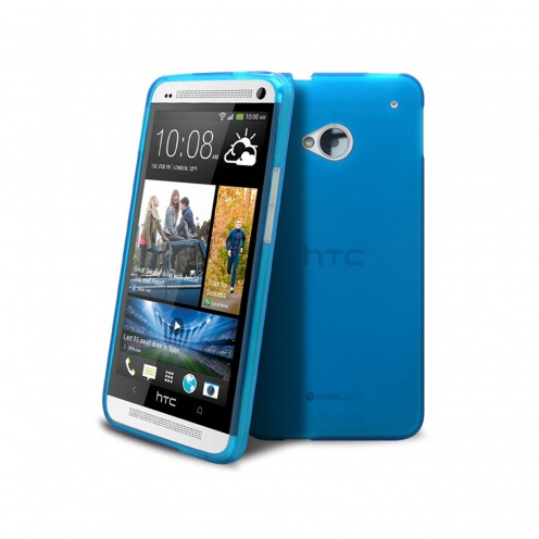 Frozen Ice Extra Slim soft blue case for HTC One