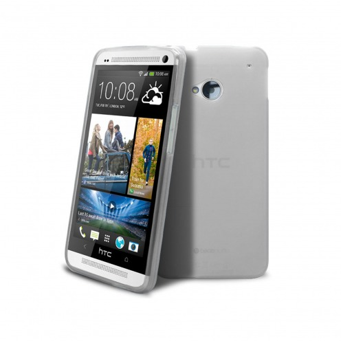 Frozen Ice Extra Slim soft white case for HTC One