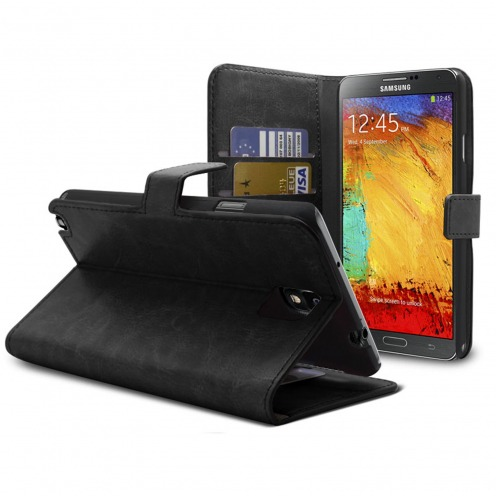 Smart Cover Samsung Galaxy Note 3 Black marbled Leatherette