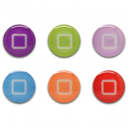 Home Sticker sticker button Home iPhone 3GS / 4 / 4 S / 5 Design pastel Cubes