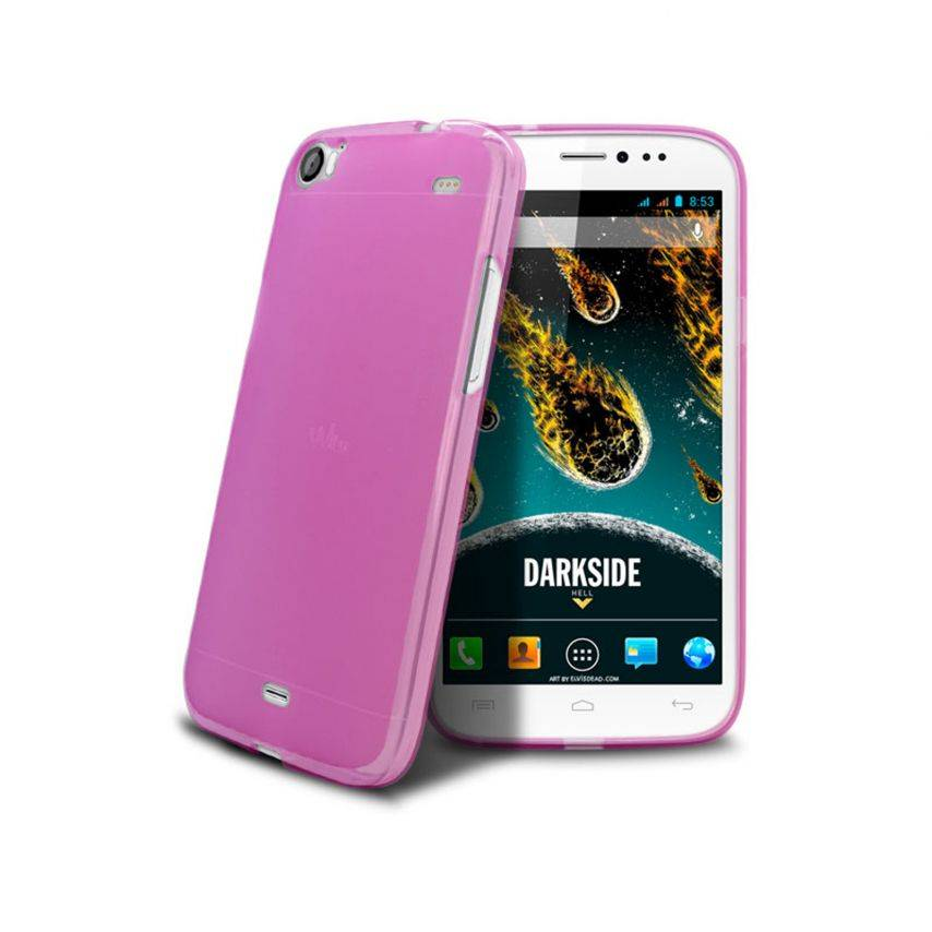 Frozen Ice Extra Slim soft pink case for Wiko DARKSIDE