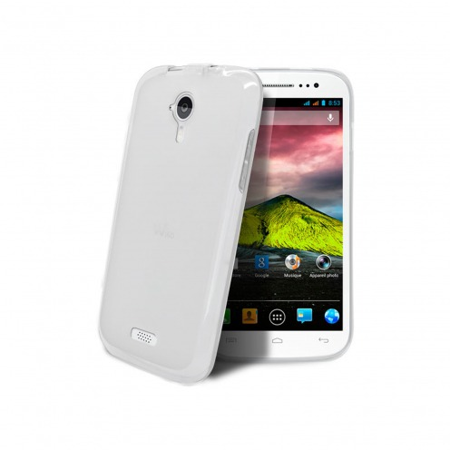 Frozen Ice Extra Slim soft white case for Wiko Cink Five