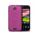 Frozen Ice Extra Slim soft pink case for Wiko Cink Five