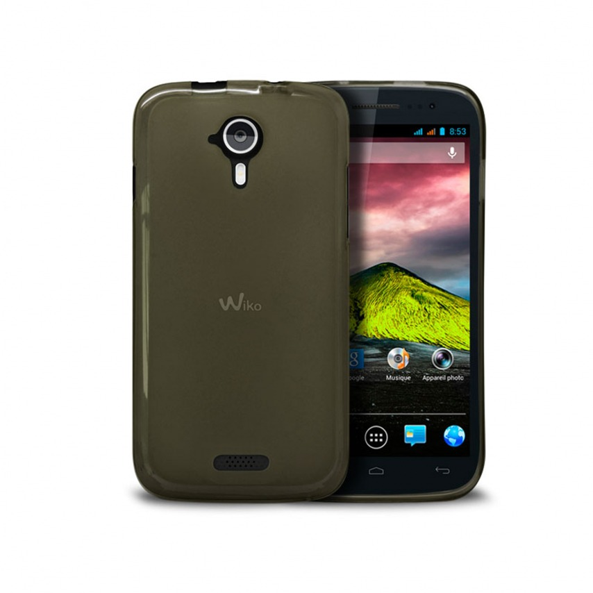 Frozen Ice Extra Slim soft Black case for Wiko Cink Five