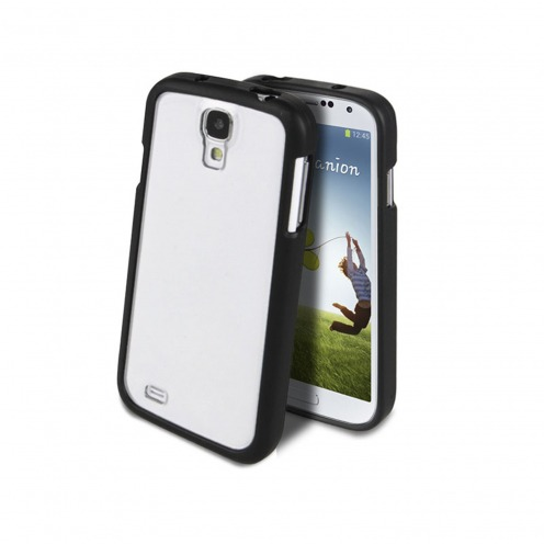 Galaxy S4 case Muvit ® Bimat Back bi black - Transparent