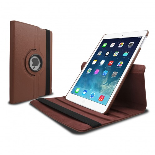360 ° rotating smart leather case for iPad Air Brown