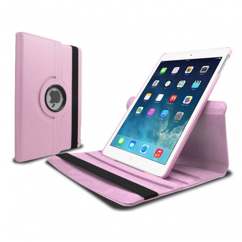 360 ° rotating smart leather case for iPad Air Pink