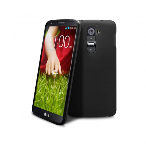 Frozen Ice Extra Slim soft opaque black case for LG G2