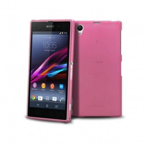 Frozen Ice Extra Slim soft pink case for Sony Xperia Z1