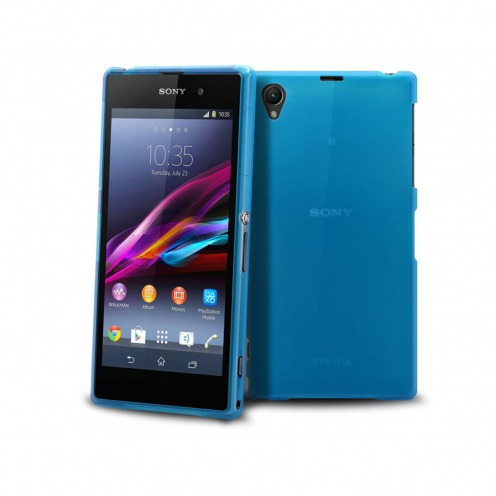 Frozen Ice Extra Slim soft blue case for Sony Xperia Z1