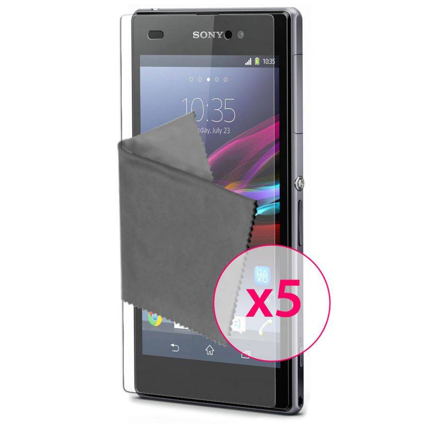 Clubcase ® Ultra Clear HQ screen protector for Sony XPERIA Z1 5-Pack