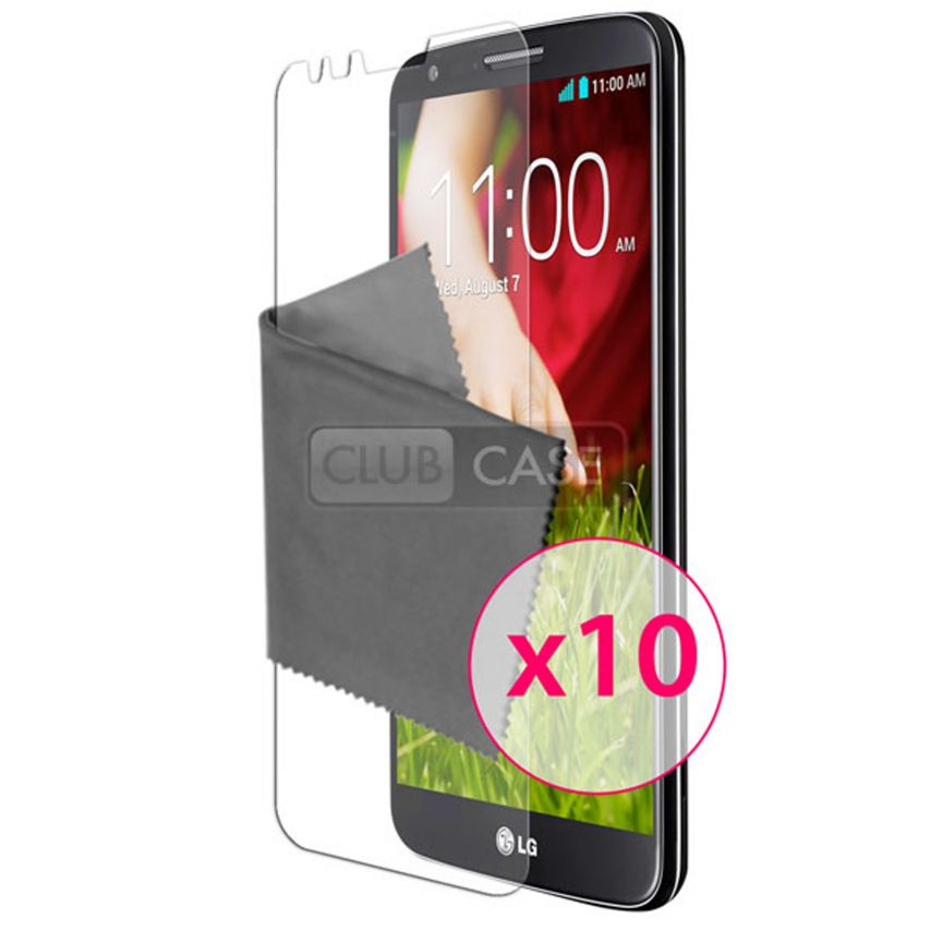 Clubcase ® Ultra Clear HQ screen protector for LG G2 10-Pack