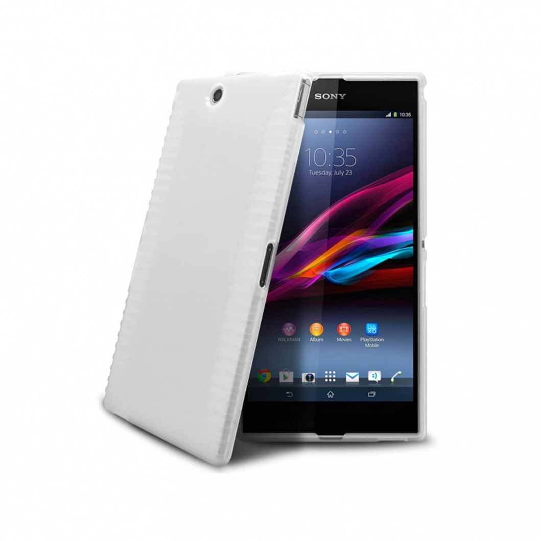 ... XPeria Z Ultra > Frozen Ice Extra Slim soft White case for Sony Xperia