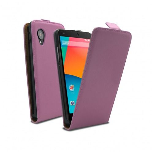 leather flip case pink Google Nexus 5 by LG