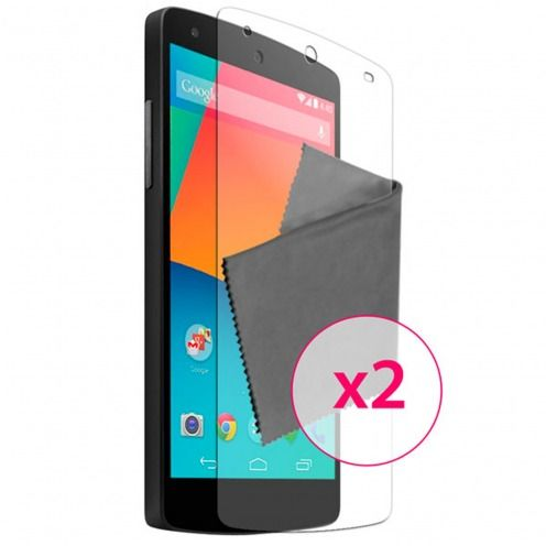 Clubcase ® Ultra Clear HQ screen protector for Google Nexus 5 by LG 2-Pack