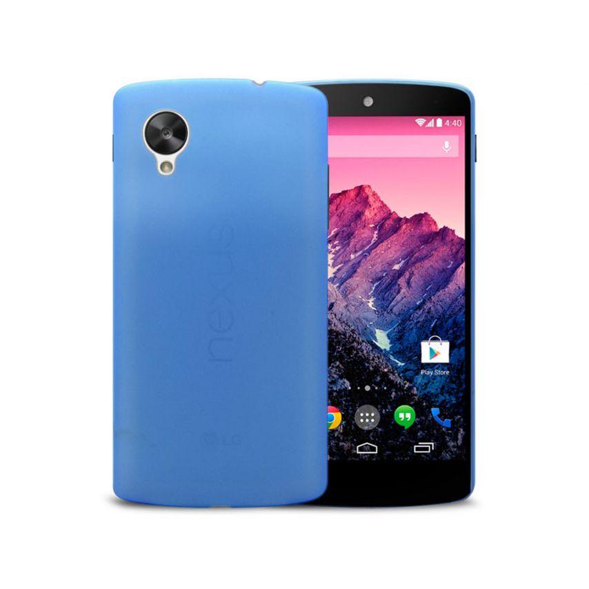 Ultra thin Case 0.3 mm Frost for SGoogle Nexus 5 Blue