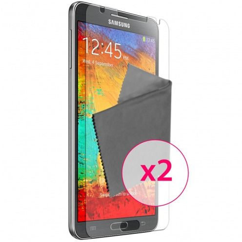 Pack of 2 Anti-Fingerprints Screen protector for Galaxy Note 3 Clubcase ®