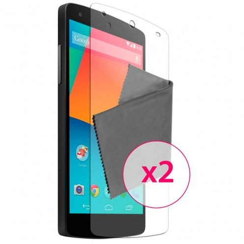 Pack of 2 Anti-Fingerprints Screen protector for LG G2 Clubcase ®
