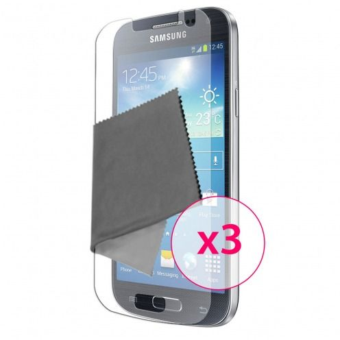 Clubcase ® Anti-Glare HQ screen protector for Galaxy S4 Mini 3-Pack