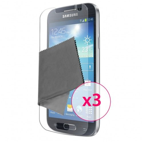 Pack of 3 Anti-Fingerprints Screen protector for Galaxy S4 Mini Clubcase ®