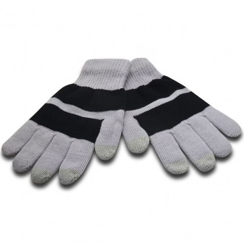 iTouch - touch gloves special iPhone grey & black - size S