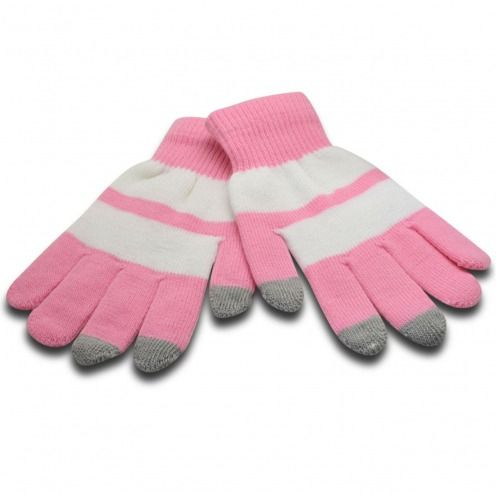 iTouch - touch gloves special iPhone pink & white - size S