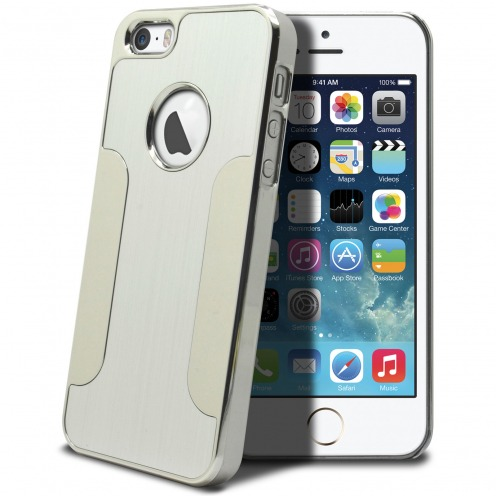 Aluminium Chrome COLORS BRUSH iPhone 5S/5 case Silver