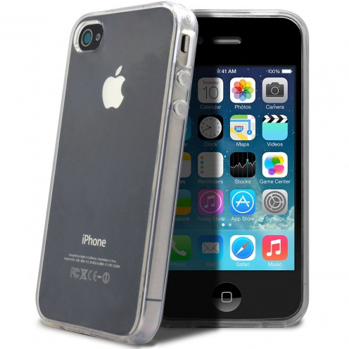 """Crystal Clear"" flexible case for iPhone 4/4S"