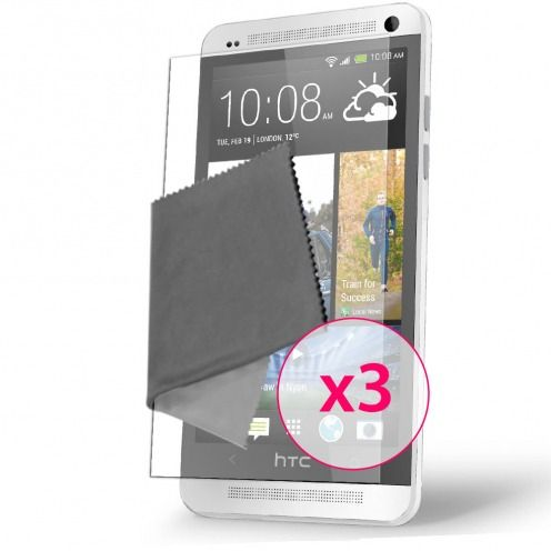 Clubcase ® Ultra Clear HQ screen protector for HTC One Mini 3-Pack