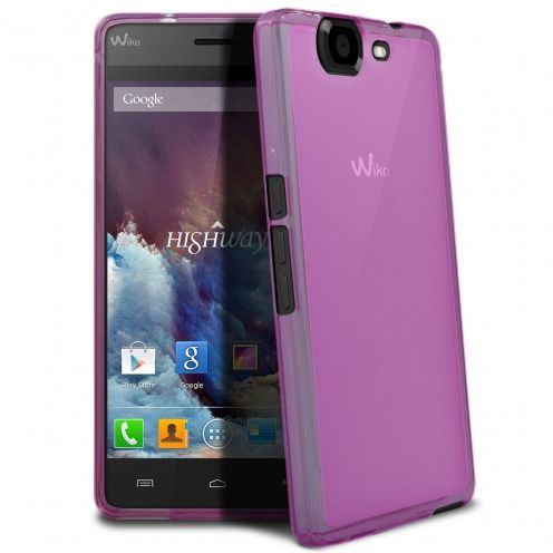 Frozen Ice Extra Slim soft pink case for Wiko Highway